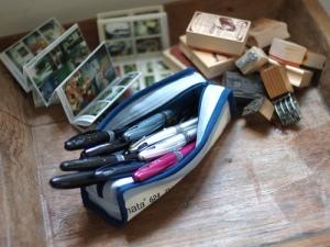 A pen case full of Tradios