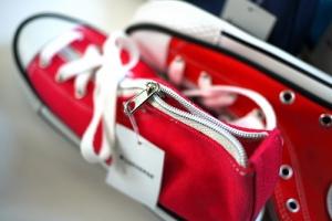 Converse Shoe Pen Cases - zipper enclosure