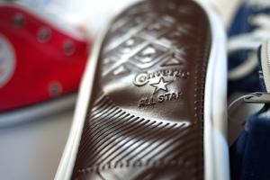 Converse Shoe Pen Cases - embossed shoe bottom