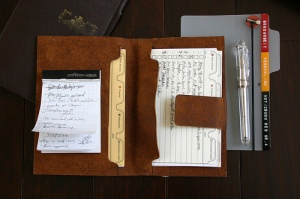 mind.Depositor 2: Leather Jacket for notepad and 6x4 index cards