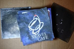 Bind-it-all Project - Blue: Travel Cafe logo design