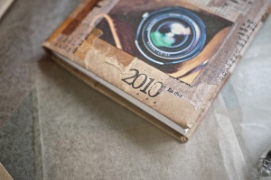 Collaged 2010 Diary Cover - closeup