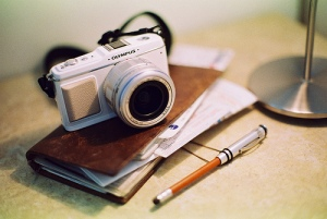 Olympus E-P1 and Traveler's Notebook