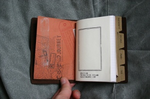 Traveler's Notebook Passport Size - custom notebook insert - front inner