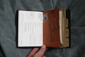 Traveler's Notebook Passport Size - custom notebook insert - back inner