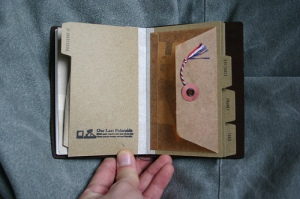 Traveler's Notebook Passport Size - custom notebook pocket inserts - receipts