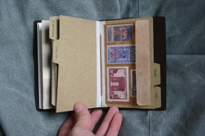 Traveler's Notebook Passport Size - custom notebook pocket inserts - stamps