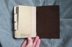 Traveler's Notebook Passport Size - custom notebook pocket inserts - back