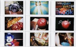 Diana + Fuji Instax film, double exposures