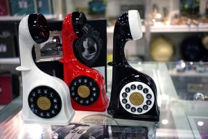 German phone replica modernized with touch dial