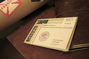 Midori Traveler's Notebook Xmas Card