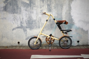 Strida Edition Cream with Brooks saddle