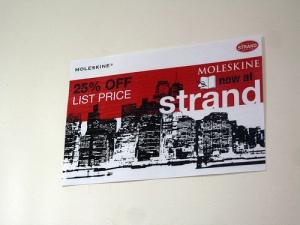 Strand's 25% Off for Moleskine Aug 2007