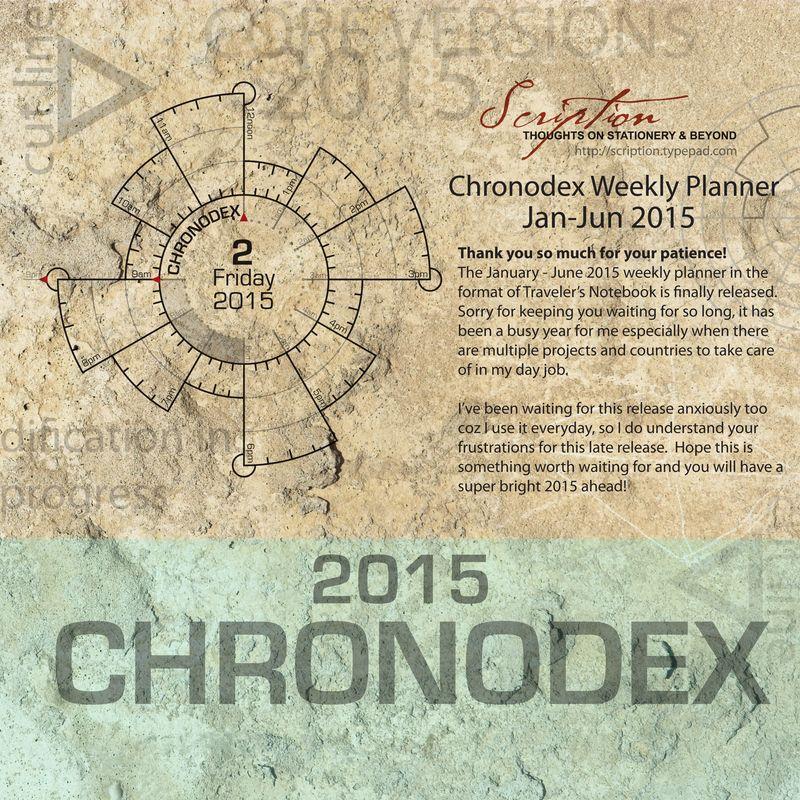 Chronodex 2015 release